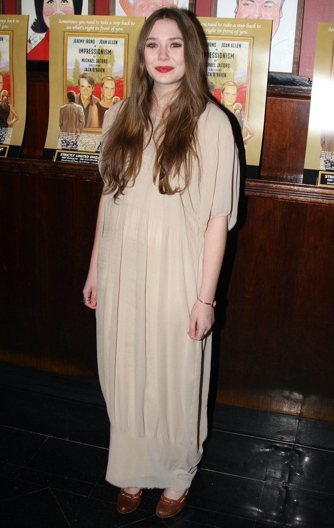 Elizabeth Olsen at the 2009 Impressionism Broadway Opening Night after-party