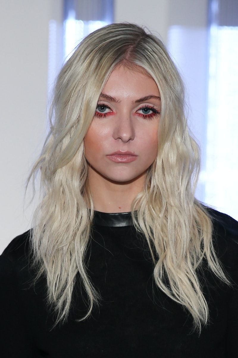 Taylor Momsen at the Helmut Lang show during New York Fashion Week. Photo via Getty Images