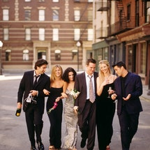 Friends cast. Photo via Getty Images