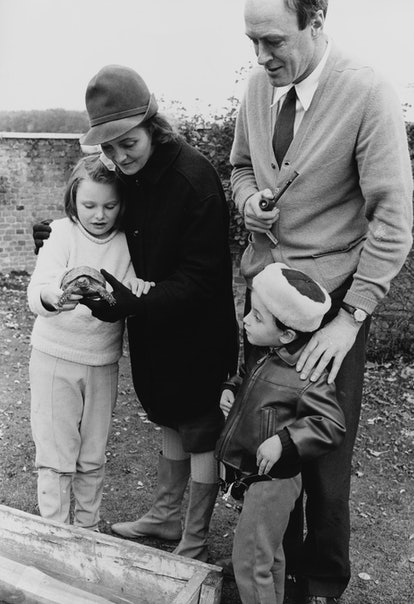 Roald Dahl with his family