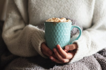 Spiked cherry hot chocolate is the perfect winter cocktail