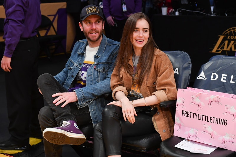 Lily Collins and Charlie McDowell. Photo via Getty Images