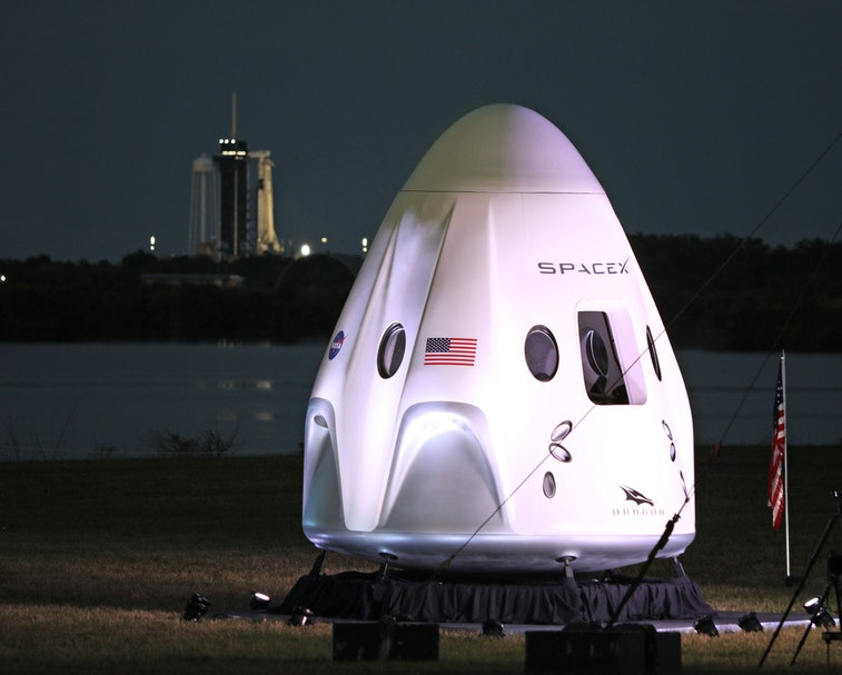 SpaceX Crew Dragon space capsule.
