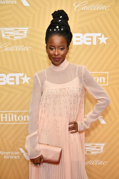 Amanda Gorman attends the American Black Film Festival Honors Awards Ceremony at The Beverly Hilton Hotel on February 23, 2020 in Beverly Hills, California.