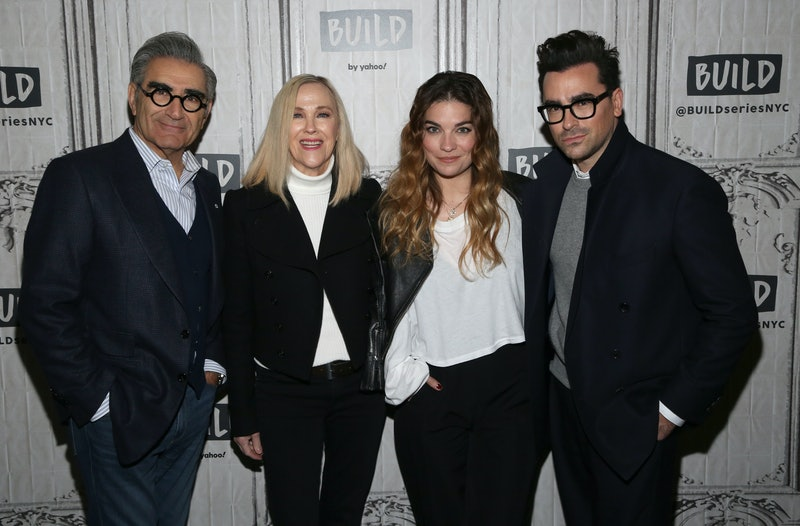 The cast of 'Schitt's Creek' reflects on working together in Q&A with Patrick Stewart. Photo via Getty Images