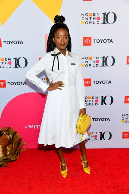 APRIL 10: Amanda Gorman attends the 10th Anniversary Women In The World Summit at David H. Koch Theater at Lincoln Center on April 10, 2019 in New York City.