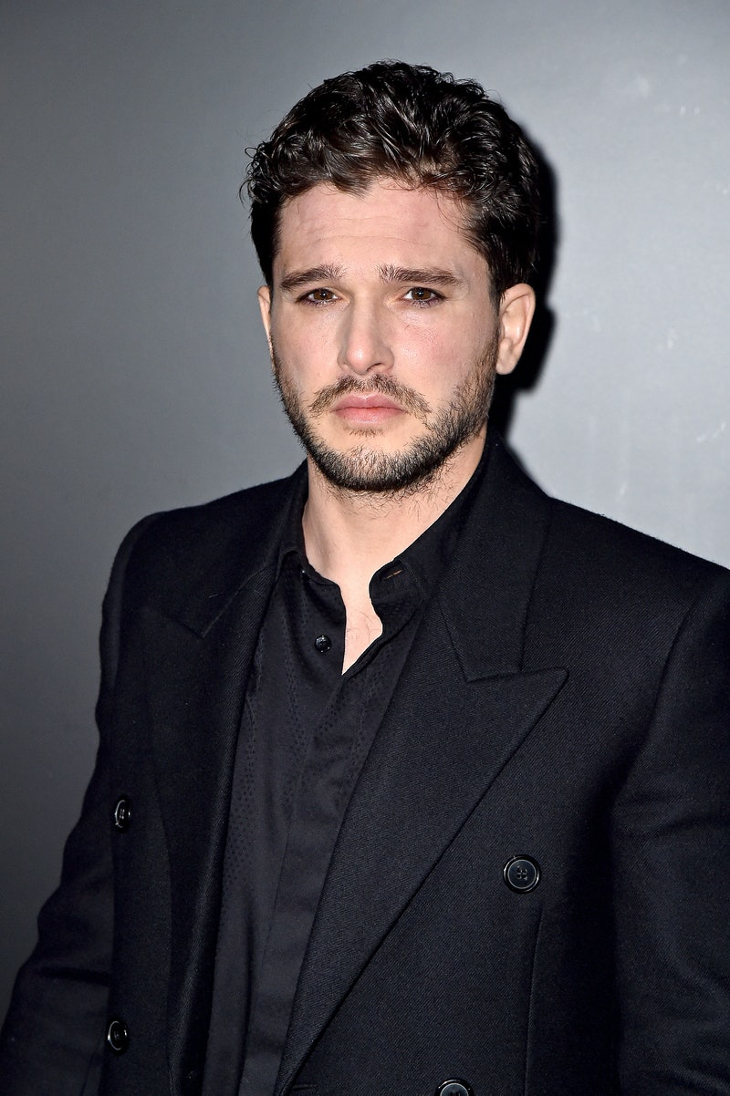 Kit Harrington at the St. Laurent fashion show during Paris Fashion Week. Photo via Getty Images