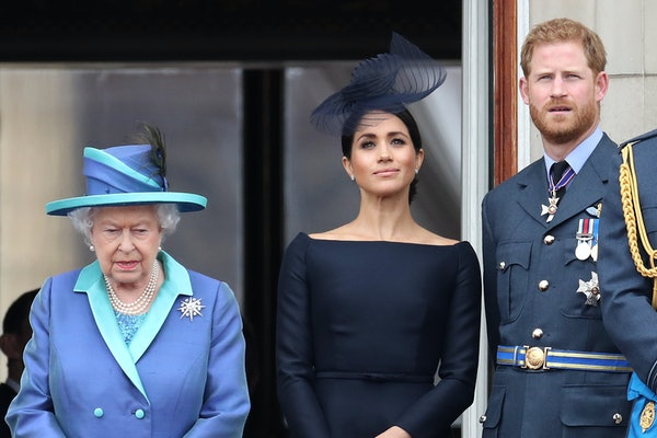 The Queen, Meghan Markle, and Prince Harry