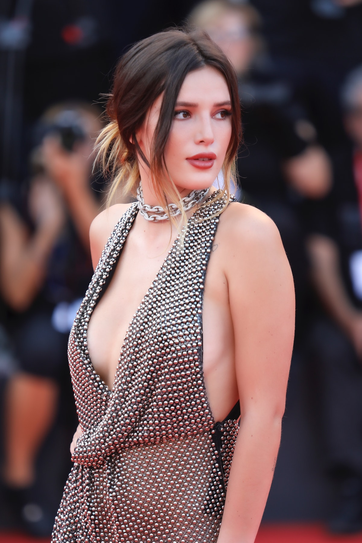 Bella Thorne hits the red carpet.