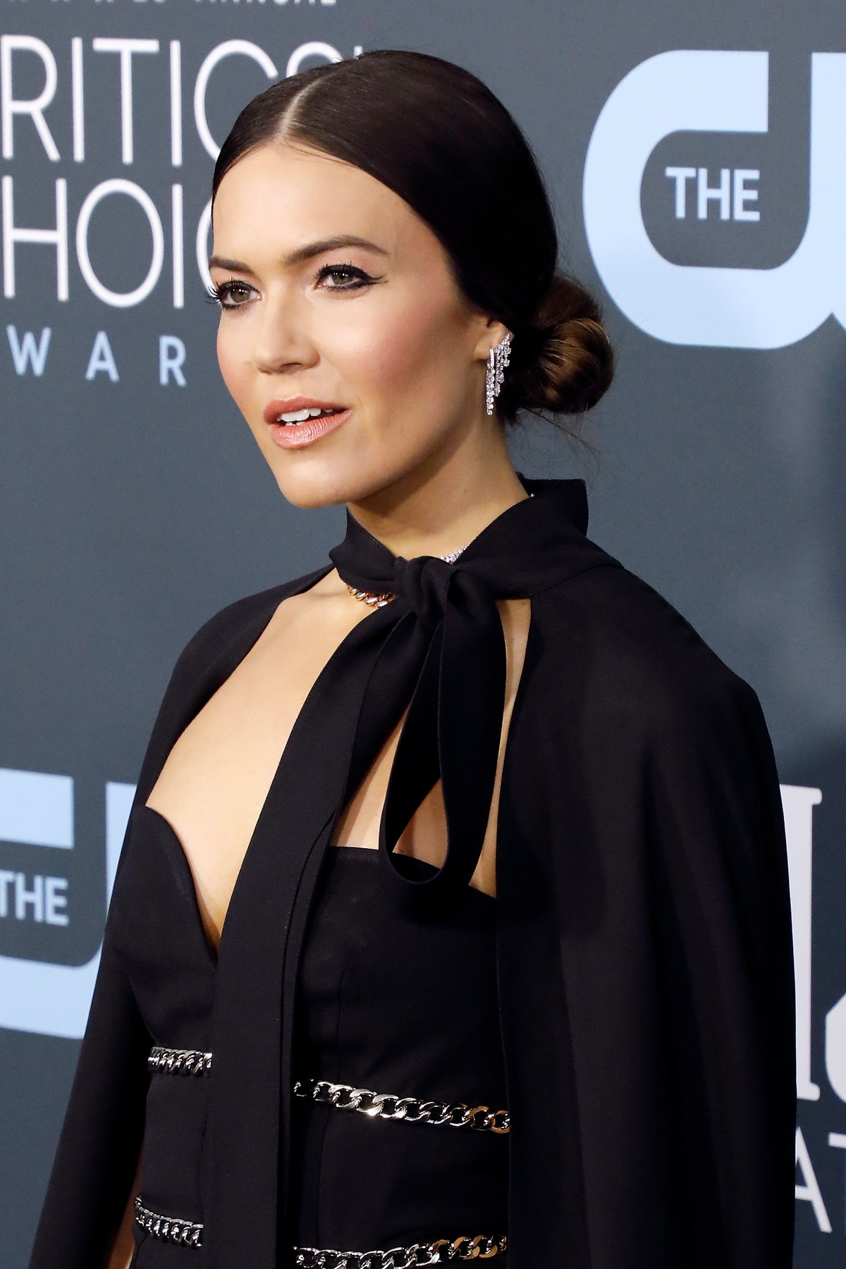 Mandy Moore hits the red carpet at an event for The CW.