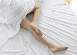legs on a sheet