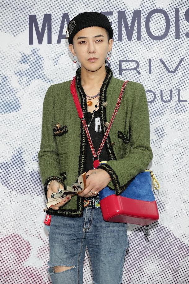BIGBANG's G-Dragon hits the red carpet.
