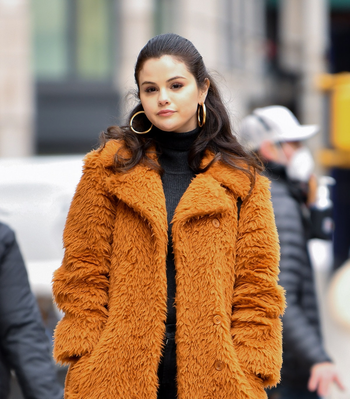 Selena Gomez is seen filming her show 'Only Murders in the Building.'