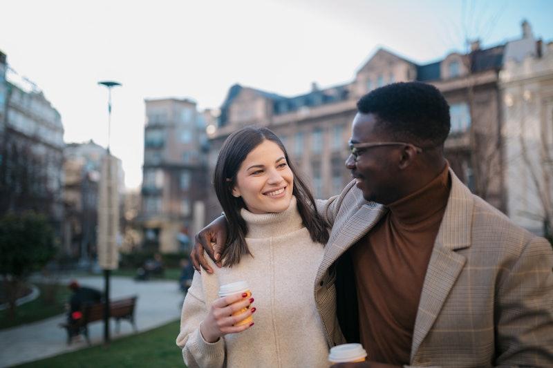 couple, date, interracial