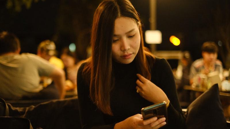 woman, phone