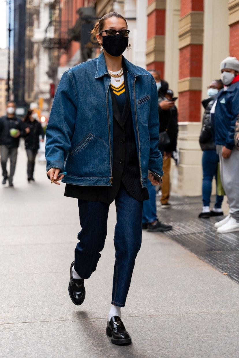 Bella Hadid in New York.