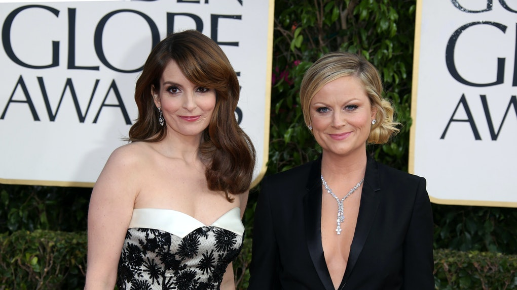Tina Fey & Amy Poehler at the Golden Globes