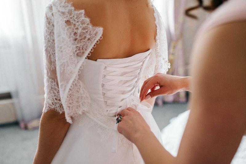 wedding, bride, bridesmaid