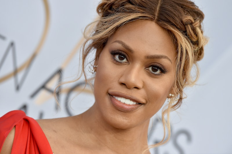 Laverne Cox Wore Superhero Sleeves To The Golden Globes