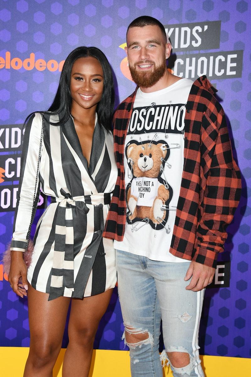 Travis Kelce and Kayla Nicole. Photo via Getty Images