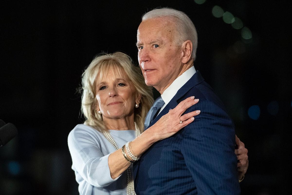 First Lady Dr. Jill Biden and President Joe Biden at the National Constitution Center in Philadelphi...