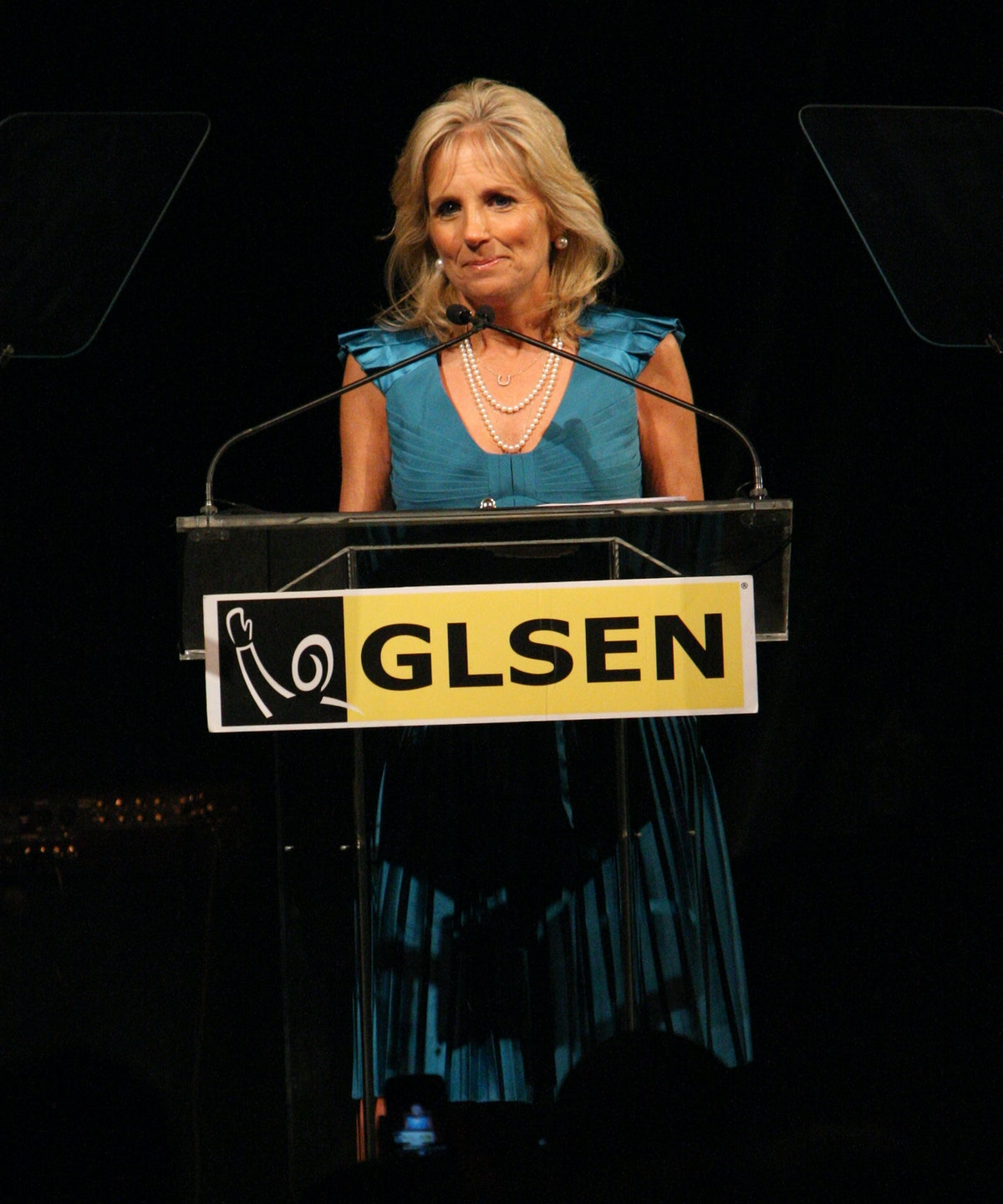 Dr. Biden speaks at the 6th Annual GLSEN Respect Awards at Gotham Hall on June 1, 2009 in New York C...