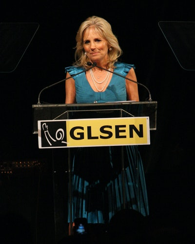 Dr. Biden speaks at the 6th Annual GLSEN Respect Awards at Gotham Hall on June 1, 2009 in New York City.