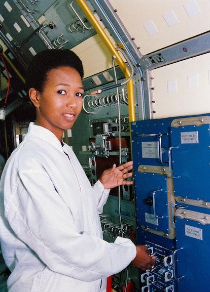 Dr. Mae Jemison aboard the international space station.
