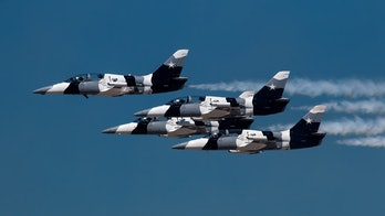 Black Diamond Jet Team in flight