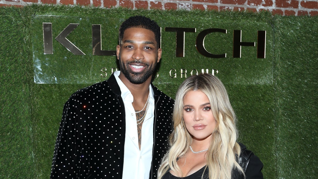 Tristan Thompson and Khloe Kardashian attend an event.