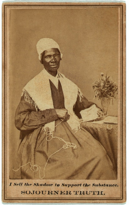 An archival image of Sojourner Truth.