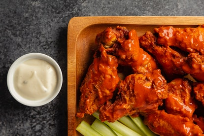 It's not a Super Bowl party without chicken wings.