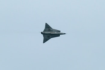 One of Draken International's jets in flight.
