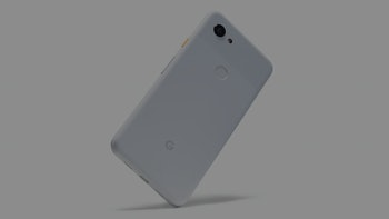 Google Pixel 3 XL smartphone on a white background.