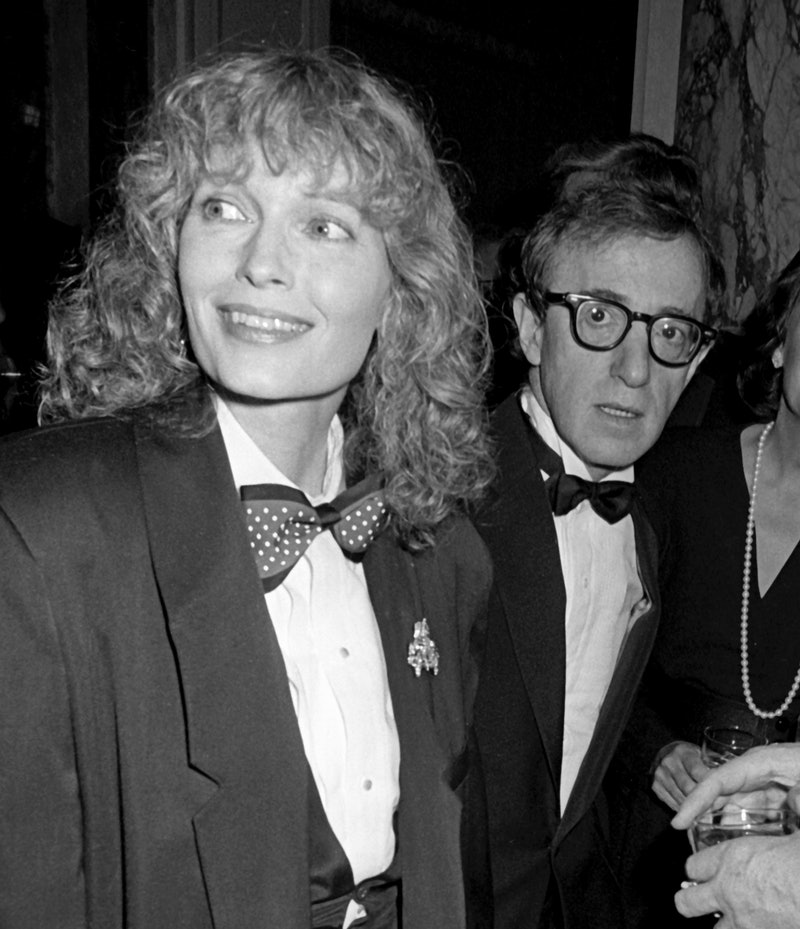 Woody Allen and Mia Farrow at an event in 1986. Photo via Getty Images