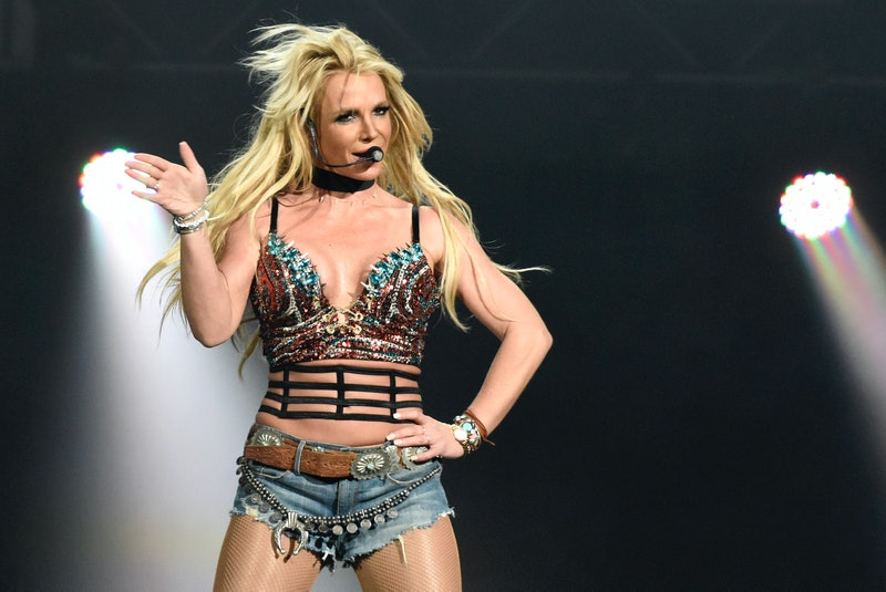 Britney Spears performing. Photo via Getty Images