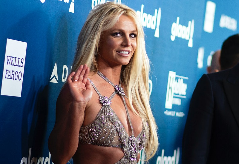 Britney Spears at the 2019 GLAAD Media Awards. Photo via Getty Images