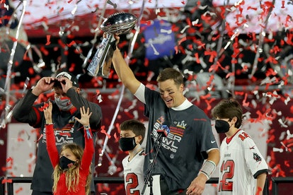 Tom Brady's three kids were excited that he won the Super Bowl.