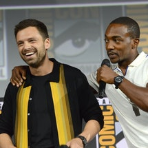 Anthony Mackie and Sebastian Stan. Photo via Getty Images