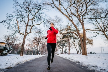Winter running. Photo: urbazon/E+/Getty Images