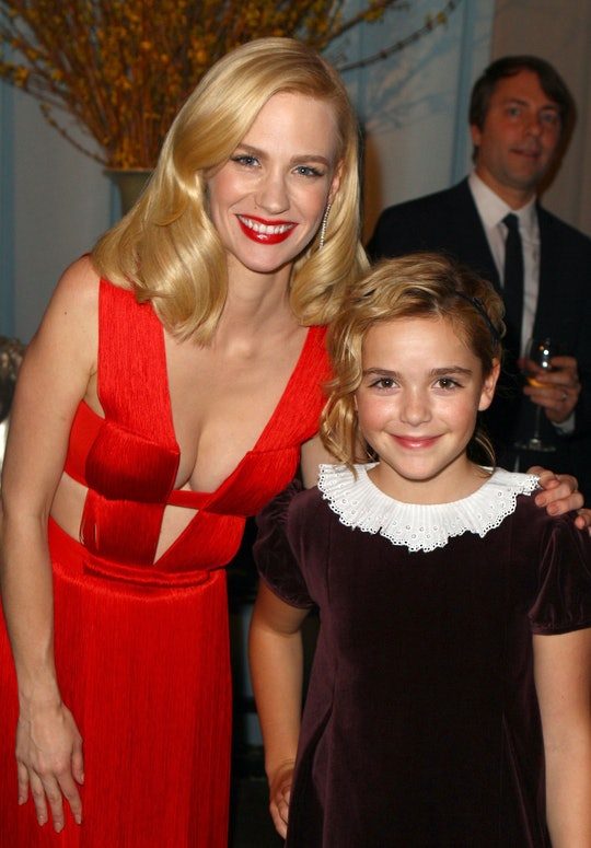 January Jones and Kiernan Shipka wore their same 'Golden Globes' outfits 10 years later.