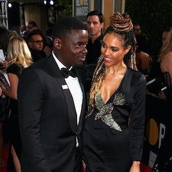 Daniel Kaluuya and Amandla Crichlow at the 2018 Golden Globes. Photo via Getty