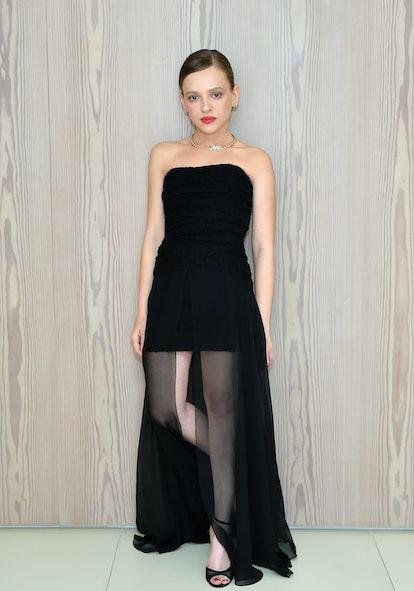 Shira Haas wore a gorgeous black sheer dress.