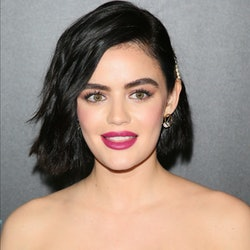 Lucy Hale's butterfly hair clips are straight from the '90s.