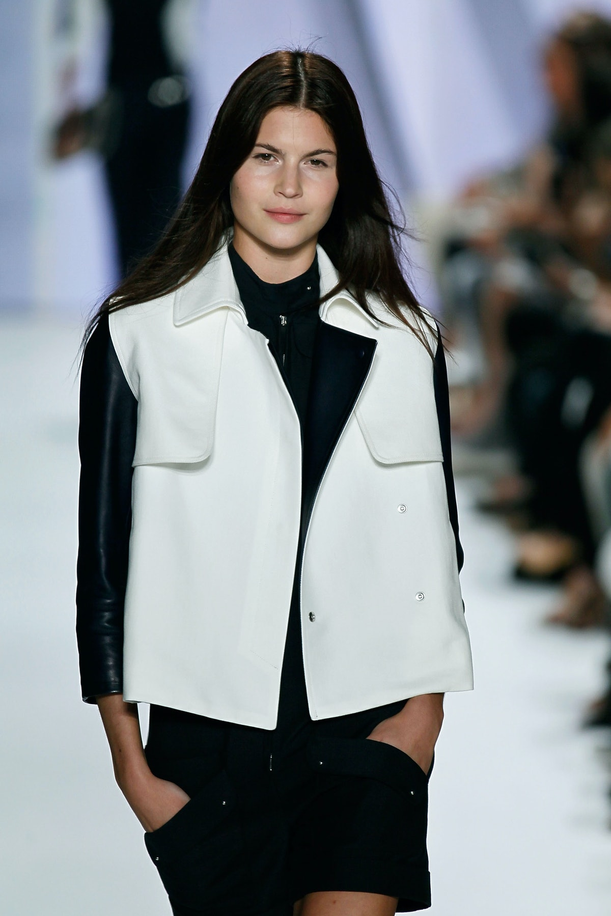 NEW YORK, NY - SEPTEMBER 10:  Model Lina Sandberg walks the runway at the Lacoste Spring 2012 fashion show during Mercedes-Benz Fashion Week at The Theater at Lincoln Center on September 10, 2011 in New York City.  (Photo by Peter Michael Dills/Getty Images  for Mercedes-Benz Fashion Week)