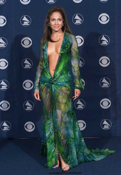 Jennifer Lopez in Versace at the 42nd Grammy Awards held in Los Angeles, CA on February 23, 2000  Ph...