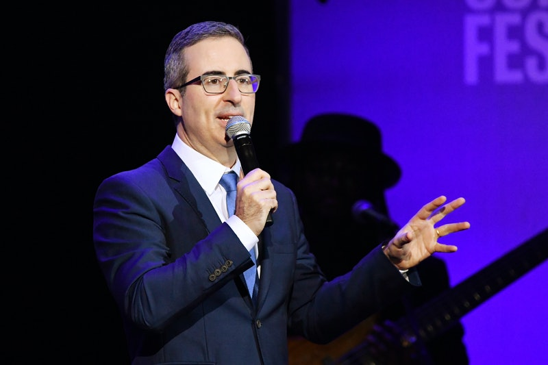 NEW YORK, NEW YORK - NOVEMBER 04: John Oliver performs onstage during the 13th annual Stand Up for Heroes to benefit the Bob Woodruff Foundation at The Hulu Theater at Madison Square Garden on November 04, 2019 in New York City. (Photo by Mike Coppola/Getty Images for The Bob Woodruff Foundation)