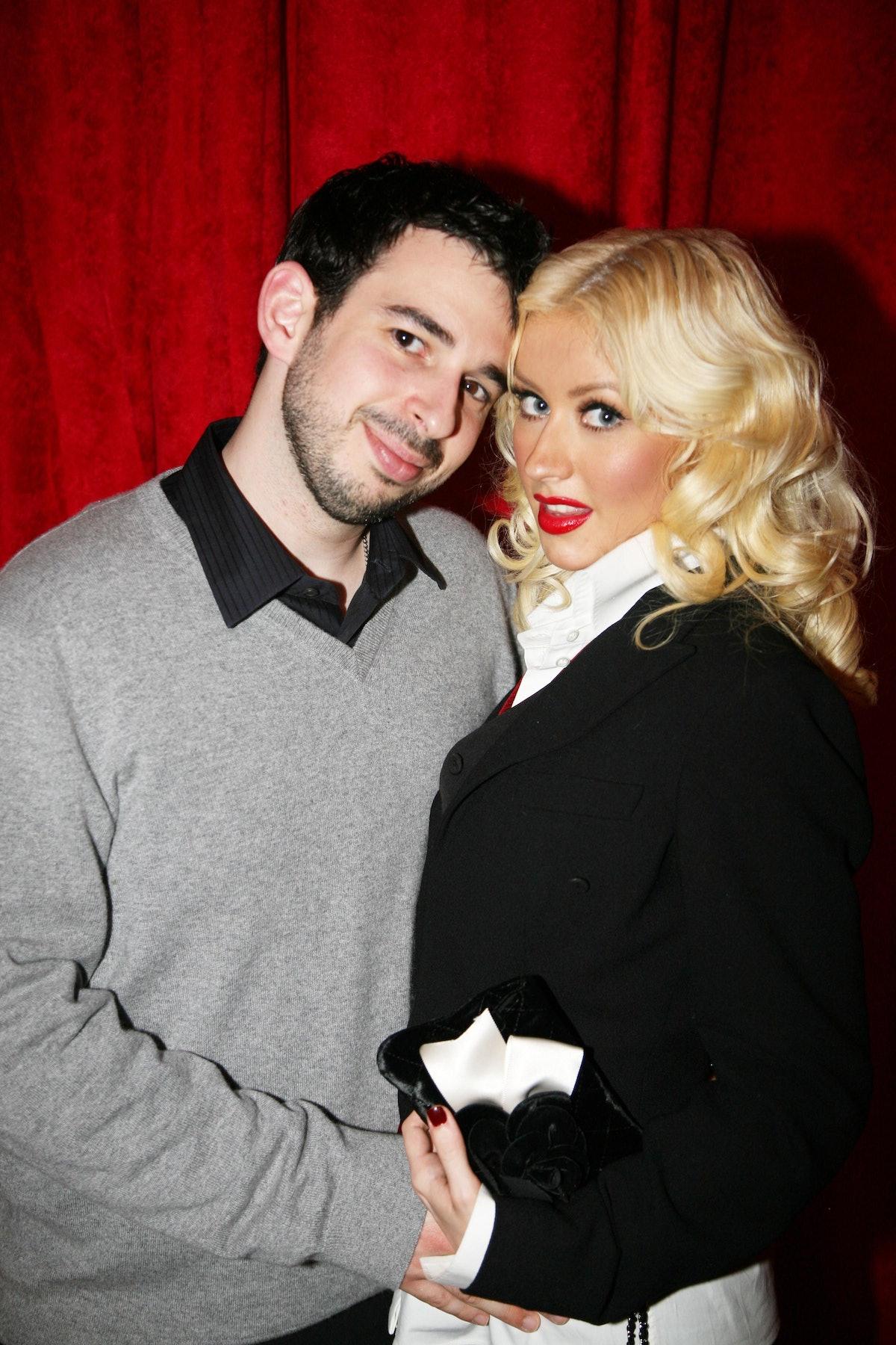 NEW YORK CITY, NY - SEPTEMBER 6: Jordan Bratman and Christina Aguilera attend MAC AIDS FUND Dinner T...