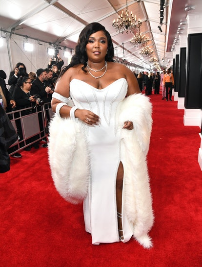 LOS ANGELES, CALIFORNIA - JANUARY 26: Lizzo attends the 62nd Annual GRAMMY Awards at STAPLES Center ...