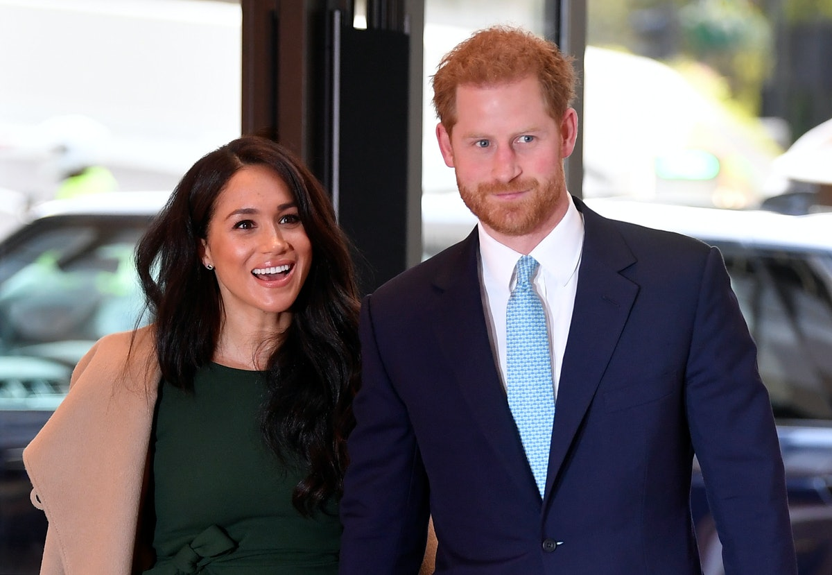 LONDON, ENGLAND - OCTOBER 15: Prince Harry, Duke of Sussex and Meghan, Duchess of Sussex attend the ...